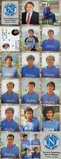 MAGLIA CALCIO NAPOLI 27 CARTOLINE (17)1989-90)+10 CARTOL. FORMAZIONI DEL NAPOLI