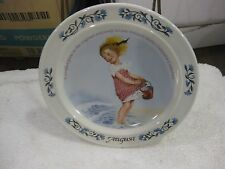Sarah Stilwell Weber Calendar Collection August Collectible Plate 1984 LE #7936