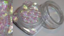 Tüte PLT / Crushed Ice * Weiß - Irisierend * Glitter Glitzer Nailart