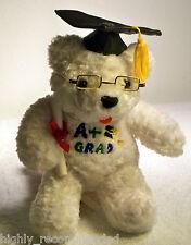 Graduation Bear with Diploma & Glasses wearing Grad Cap w/Tassels