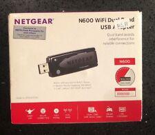 Netgear N600 WiFi Dual Band USB Wireless Adapter. Open Box. New
