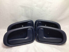 Set of 4 Inside Door Handle Dark Blue for 93-97 Toyota Corolla