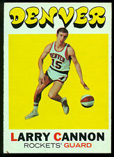 1971 72 TOPPS BASKETBALL #196 LARRY CANNON NM DENVER ROCKETS NUGGETS ABA NBA