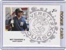 LP~RC~MATT TUIASOSOPO 2004 Just Autographs Previews 05 ROOKIE CARD~04~BRAVES~ATL