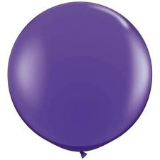 "(2)Qualatex 3 ft Purple Violet Balloon Round Latex Rubber Large Jumbo Big 36"" In"