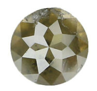 Natural Loose Diamond Fancy Color Round Rose Cut I1 Clarity 4.55MM 0.58 Ct KR724