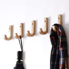Wall Solid Wood Hook Wooden Coat Hook Oak Clothes Hanger Wall Wall Decoration