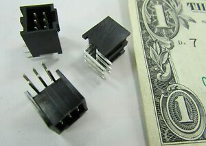 Lot 20 Molex Right Angle 6-Pin Male Rectangular Connector Header 2.54 0901303106