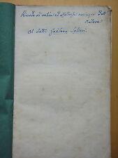 1852-SULLA LITOTRIPSIA-Dott.L.MALAGODI Autografo-MEDICINA-FANO-URBINO