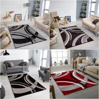 Black Grey Brown Modern Style Soft Thick Runner Rug Small Extra Large Mat Cheap