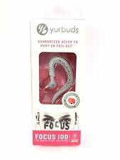 Yurbuds Focus 100 Women's Twistlock In Ear Sport Earphones - Pink and Gray
