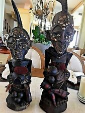 Two African Antique Wood Statues17th Century Original Estimate Over $8,000
