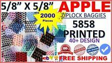 """2000 BAGGIES 5858, 5858-S TINY ZIPLOCK, ZIP LOCK PRINTED DESIGN BAGS 5/8"""" X 5/8"""""""