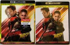 MARVEL ANT-MAN AND THE WASP 4K ULTRA HD BLU RAY 2 DISC SET LENTICULAR SLIPCOVER