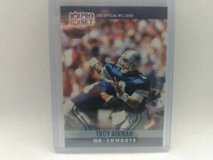 1990 Pro Set #78 Troy Aikman NFL American Football Card Cowboys