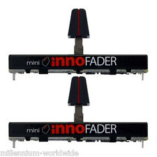 NEW - MINI INNOFADER DUO (2) UNIVERSAL REPLACEMENT CROSSFADER / FADER, DJ MIXER