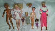 Vintage Barbies And Dolls Lot 1960s And 70s Collectors Toys Old Lot