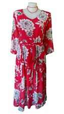 NWT AUTOGRAPH Dress - Vintage Style Boho Floral Red White Midaxi RRP $120 - 26