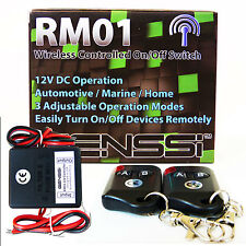 12V DC On/Off wireless key fob long range remote control relay switch