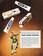 PUBLICITE ADVERTISING 104  1963  KIWI  cirage chaussures