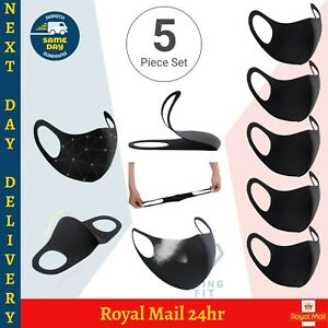 5x Face Mask Breathable Reusable Washable Mouth Nose Protection Cover PPE Unisex