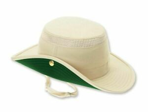 GENUINE TILLEY AIRFLO LTM3 HAT NATURAL CREAM WITH GREEN MADE IN CANADA RRP£65