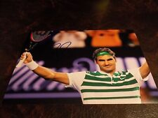 ROGER FEDERER AUTOGRAPHED TENNIS 8X10 PHOTO W/COA