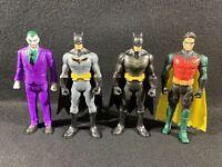 DC Comics Batman, Robin And Joker Action Figures (Lot Of 4)