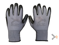 Work,Construction Gloves. Microfoam Nitrile grip, Contractor, 3 pack. Size XL