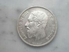 5 francs en argent Belgique Léopold 2 ecu silver