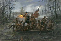 Jon McNaughton CROSSING THE SWAMP 8x10 Donald Trump Delaware River Art Print