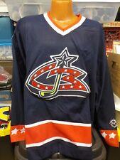 New Vintage NHL KOHO Authentic COLUMBUS BLUE JACKETS Hockey Jersey Large XXL