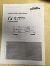 Original Owner Operation Manual for the Onkyo TX-SV535 Tuner Amp ~Not Stolen
