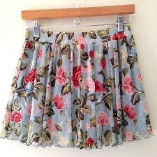 NWT Denim & Supply Ralph Lauren Beautiful Floral Lacey Swing Mini Skirt XL $90