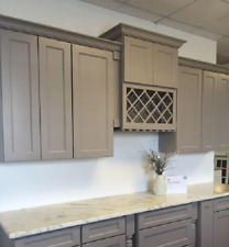 Gray Shaker Kitchen Cabinets 10x10 layout or custom fit RTA 1113gs