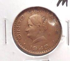CIRCULATED 1945M 5 CENTAVOS MEXICAN COIN(23015)