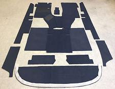 Komplettausstattung Autoteppich für Mercedes W 111 Limousine 12teilig dunkelblau