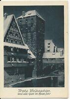 Ansichtskarte Nürnberg - Henkersteg im Winter - Weihnachten 1949 - schwarz/weiß