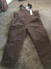 Men's Insulated Bib Coveralls XXL New With Tags