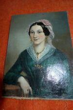 MARIA STAUBMANN 1824 -1856 PRAG; AUSTRIA; BIEDERMEIERPORTRAIT HÜBSCHE FRAU 1850