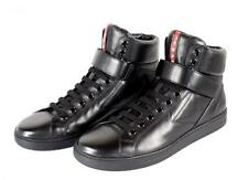 AUTHENTIC LUXURY PRADA  HIGH TOP SNEAKERS SHOES 4T2597 NEW US 10.5 EU 43,5 44