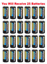 25x Panasonic CR123A Battery CR123 CR 123 Lithium 3V Photo Batteries Bulk