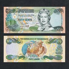2001 BAHAMAS ½ 1/2 DOLLARS Z0001362 P-68* UNC> >QUEEN E II Z PREFIX REPLACEMENT