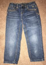 Justice Cropped Denim Jeans Size 10 Slim GUC. Measurements In Pictures.