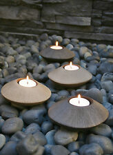 Pebble Tealight Holders 2 set Charcoal Colour