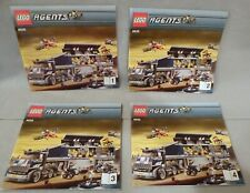 Lego AGENTS Instruction Manual Only #8635 Mobile Command Center Bks. 1-2-3-4