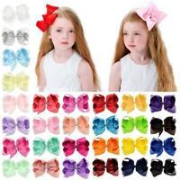 Girls Hair Clip Baby Large Bow Barrette Hairpins Hair Accessories AU