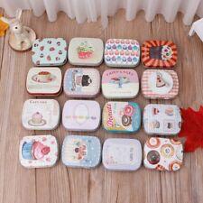 Mini Cartoon Delicate Pills Tin Case Small Tea Coffee Can Decorative Jewelry Box