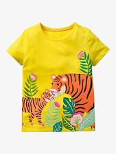 Mini Boden Girls Tiger Safari Applique Shirt NWT New 11-12