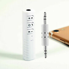 Wireless Bluetooth Receiver 3.5mm AUX Audio Stereo Hands Free Car Adapter White